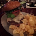 My burger last night!